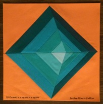 3D pyramid square in a square signed
