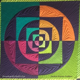 Drunkard's Bull's Eye quilted